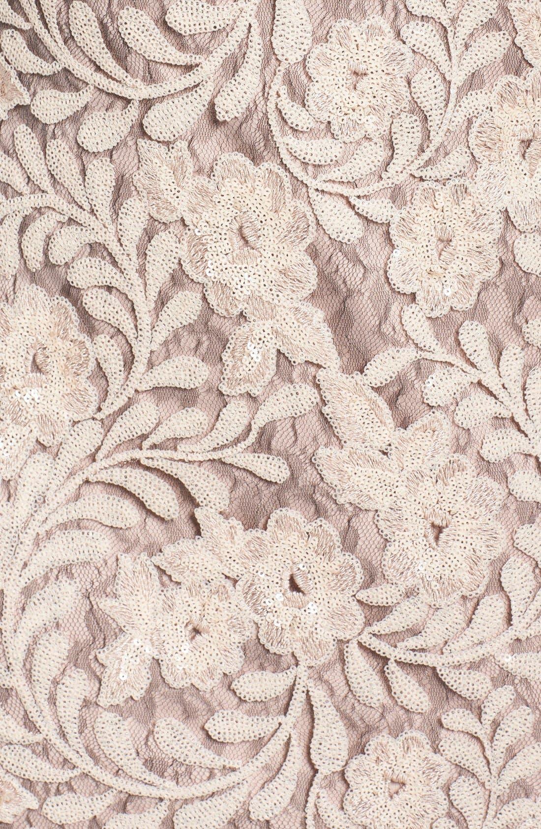 Alternate Image 5  - Brianna Sequin Lace Column Gown (Plus Size)