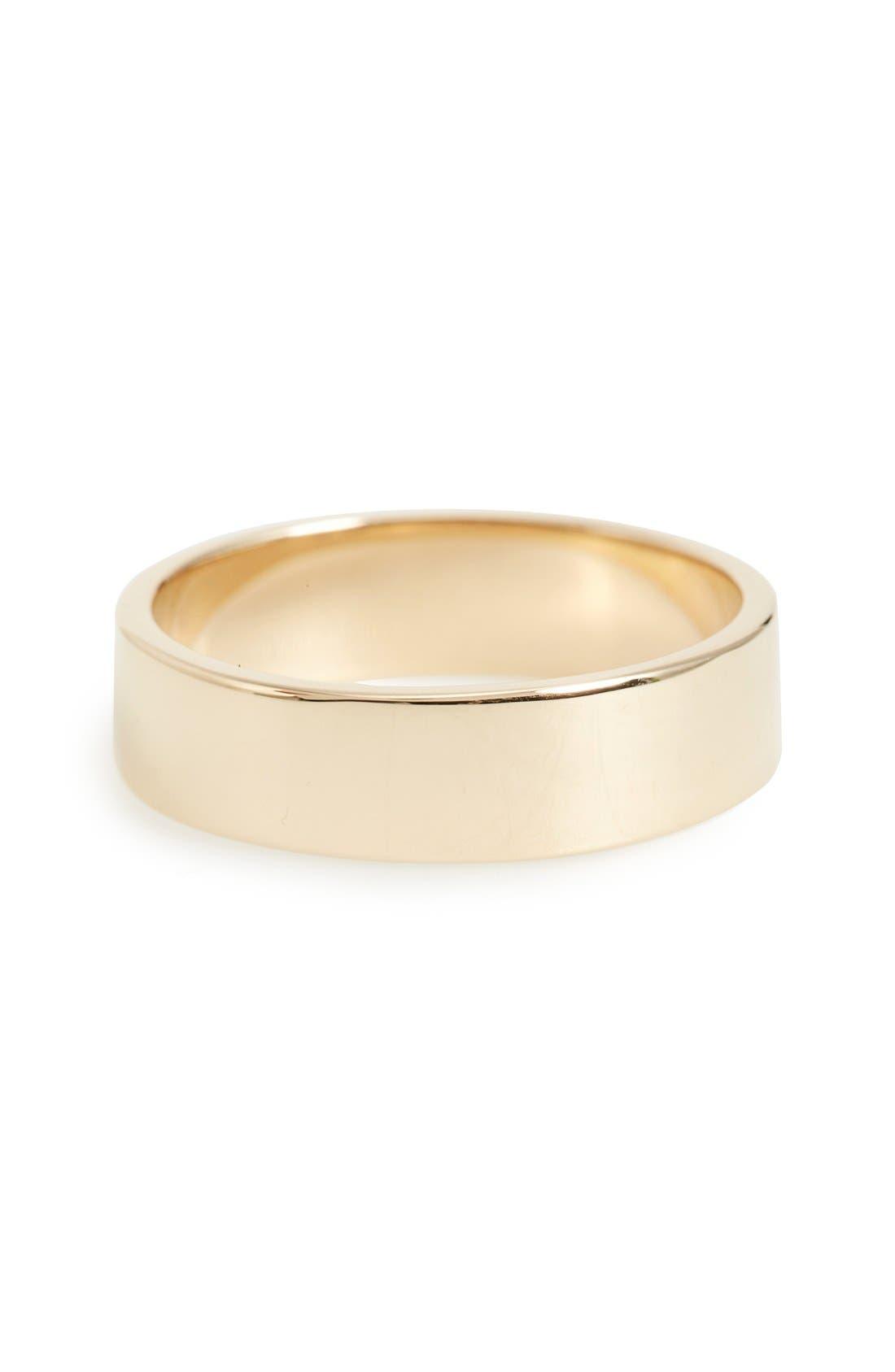 Harmony<sup>®</sup> Flat Classic 5mm Shiny Band Ring,                             Main thumbnail 1, color,                             Yellow
