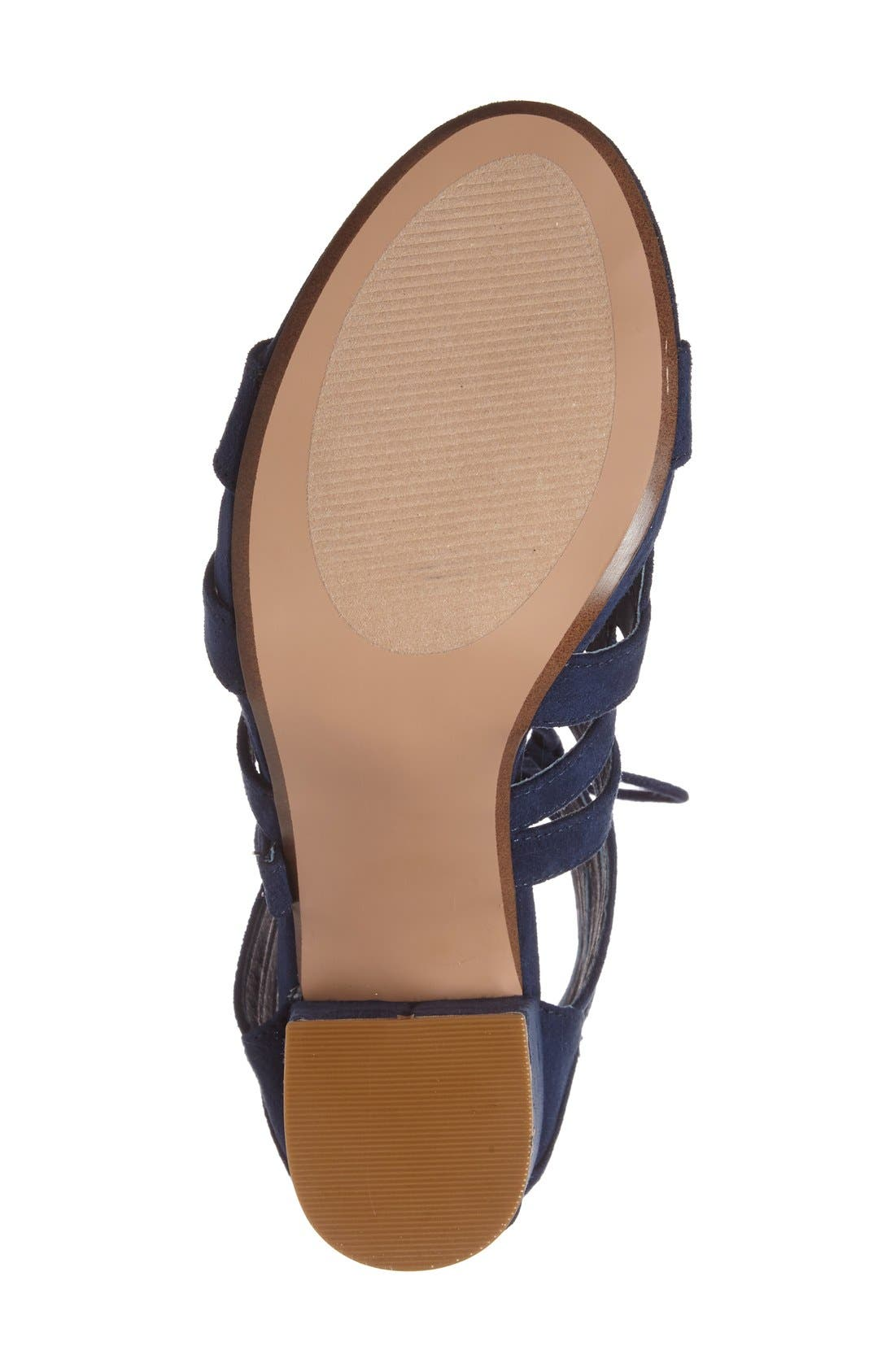 Alternate Image 4  - Steve Madden 'Gal' Strappy Lace-Up Sandal (Women)