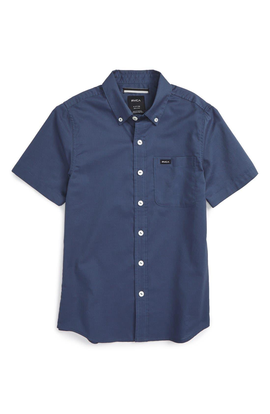 Main Image - RVCA 'That'll Do' Woven Shirt (Big Boys)