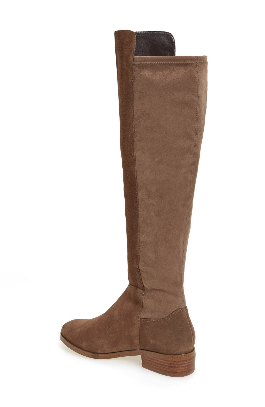 Calypso Over the Knee Boot,                             Alternate thumbnail 2, color,                             Taupe Suede