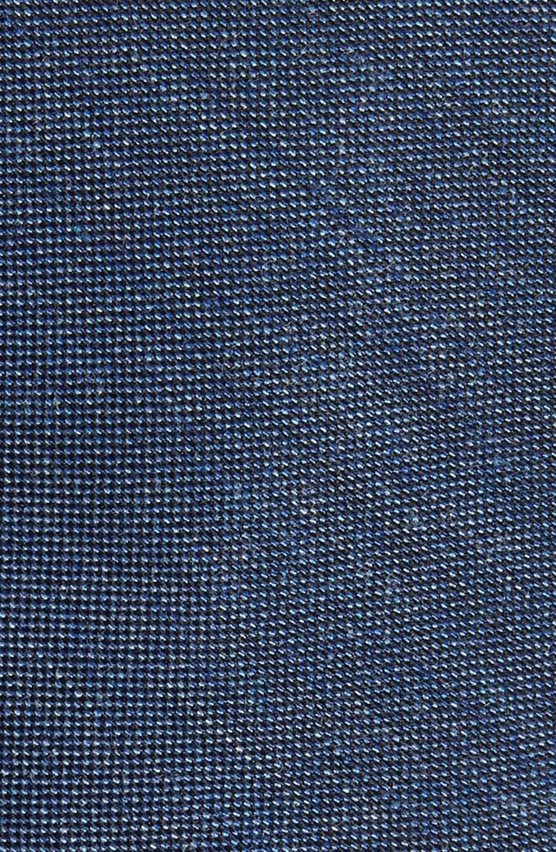 Mélange Woven Skinny Tie,                             Alternate thumbnail 2, color,                             Blue