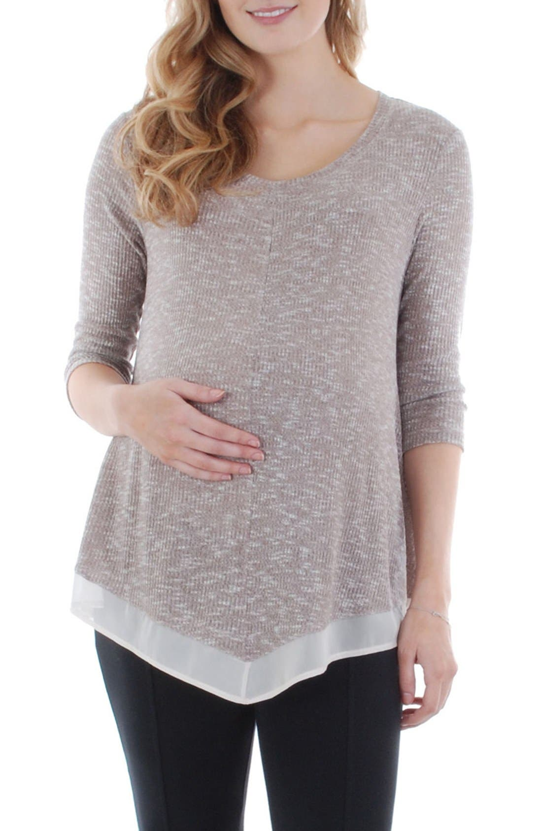 Alternate Image 1 Selected - Everly Grey Regina Maternity Swing Top