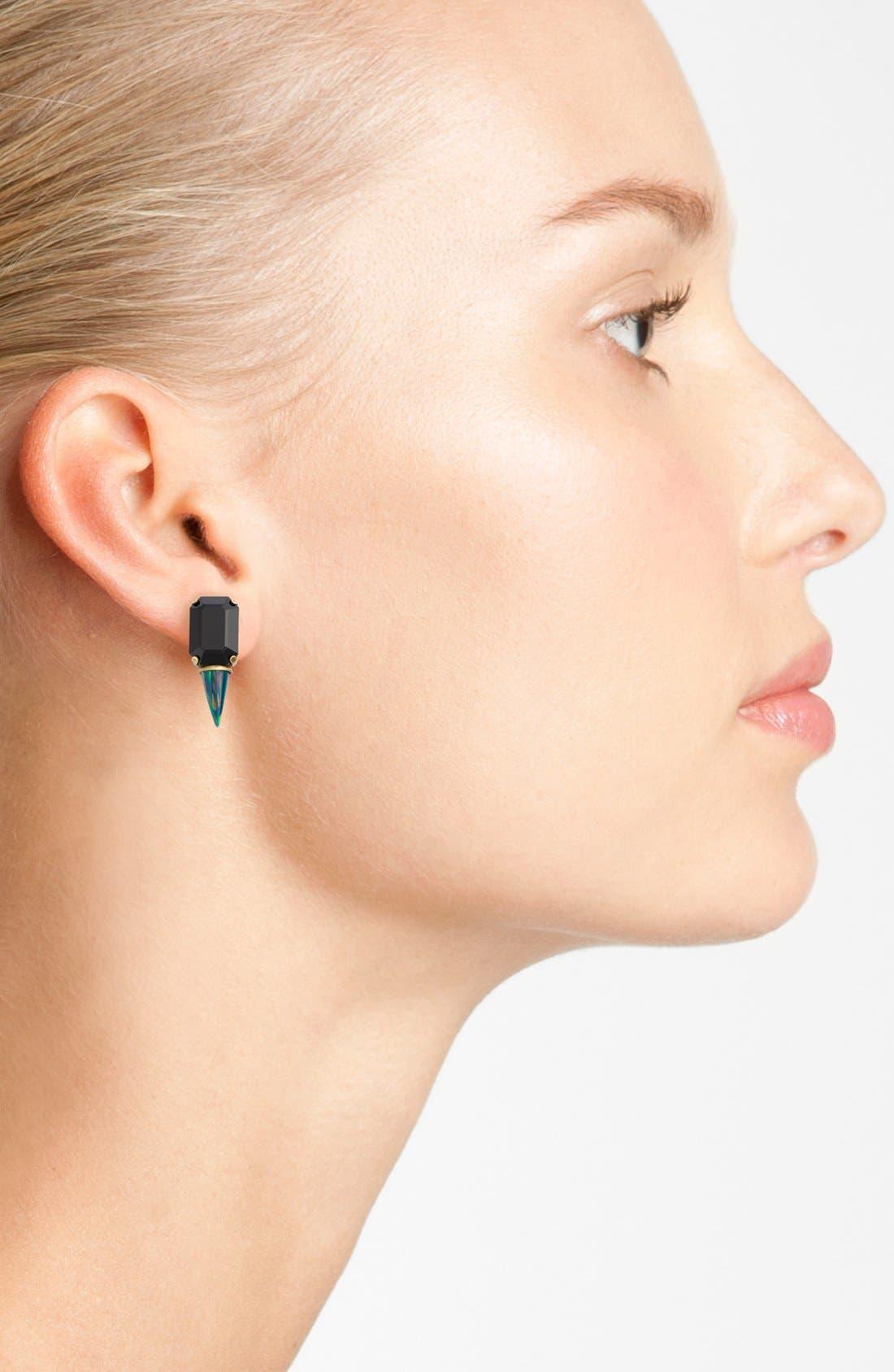 Alternate Image 2  - Lionette by Noa Sade 'Gali' Simulated Opal & Swarovski Crystal Spike Stud Earrings