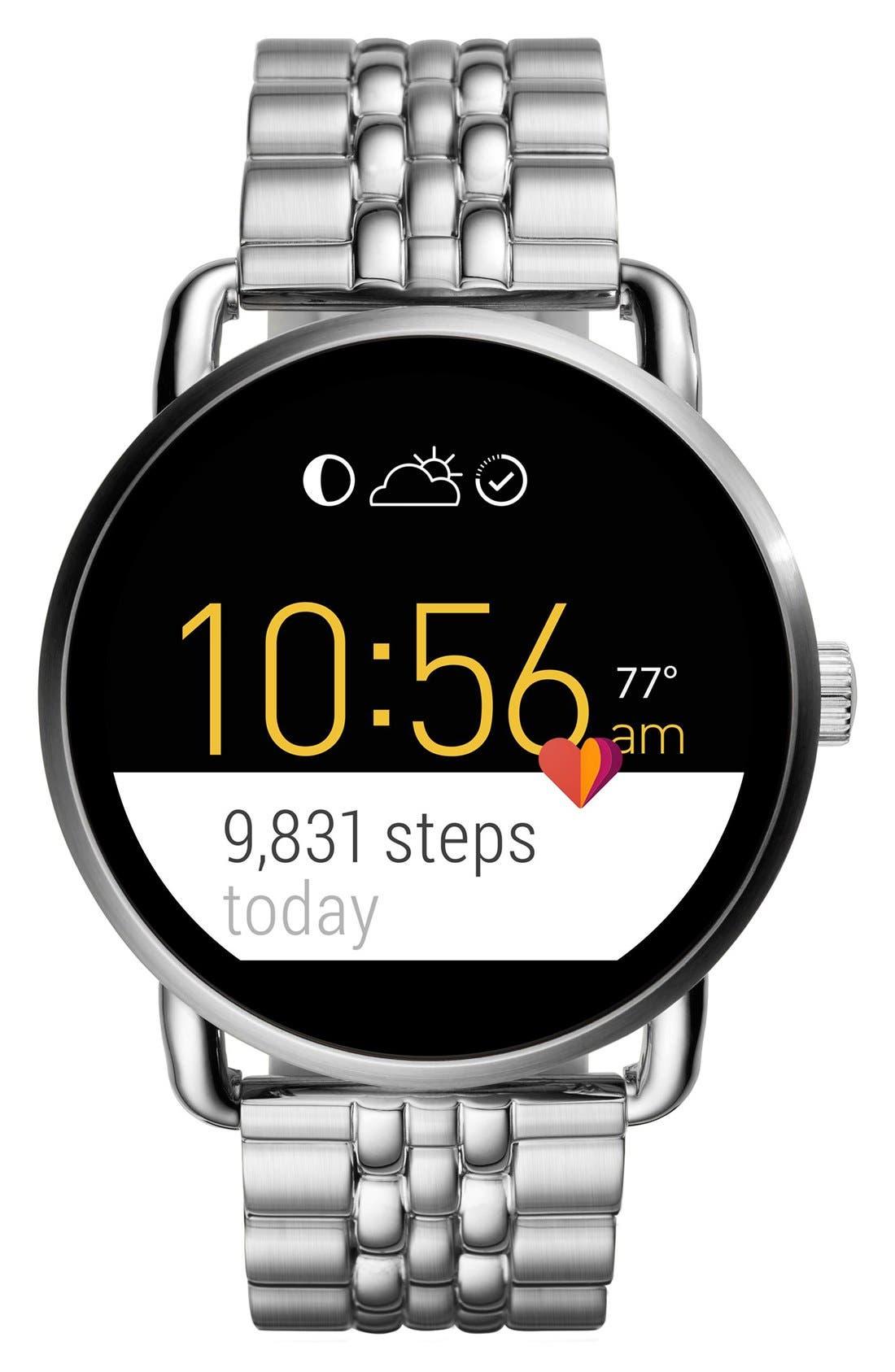 Alternate Image 4  - Fossil Q Wander Digital Smart Bracelet Watch, 45mm