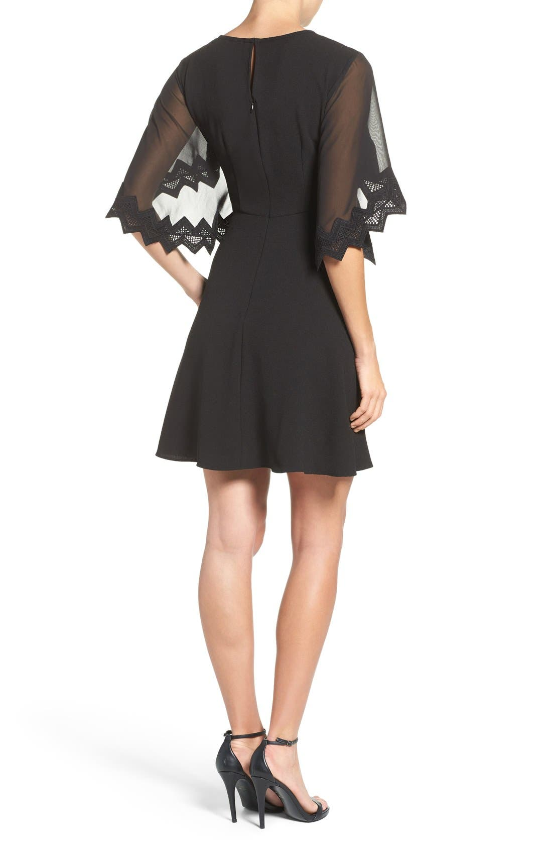 Alternate Image 2  - Taylor Dresses Chiffon Caplet Dress