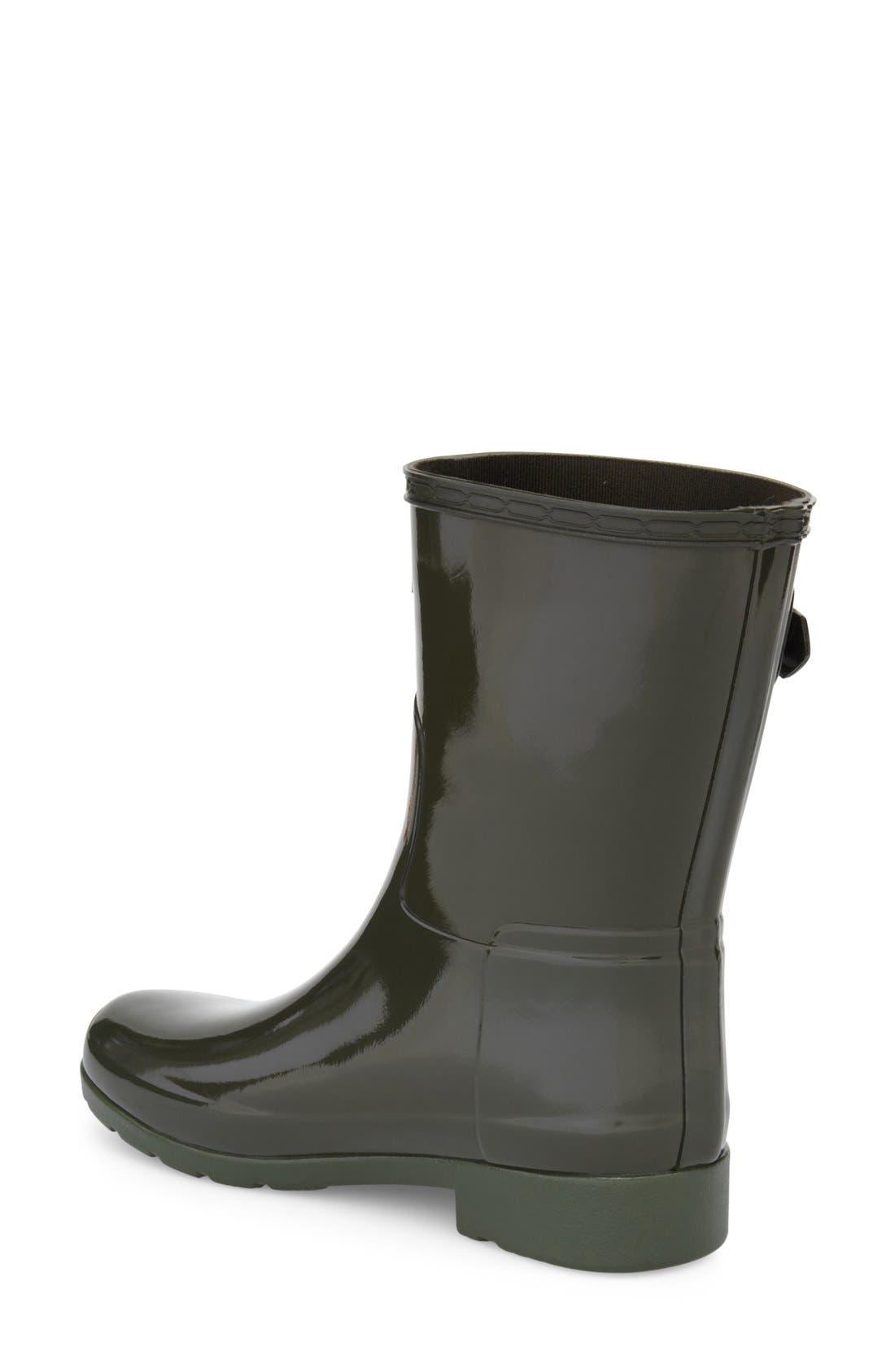 Alternate Image 2  - Hunter 'Refined Short' Gloss Rain Boot (Women)