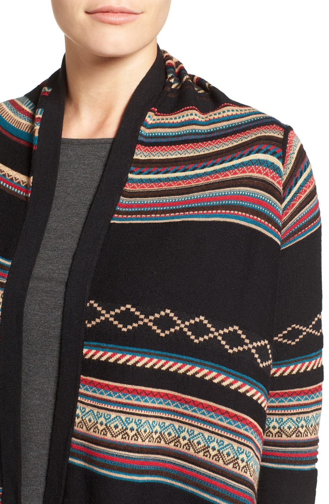 Stripe Jacquard Cardigan,                             Alternate thumbnail 4, color,                             Multi