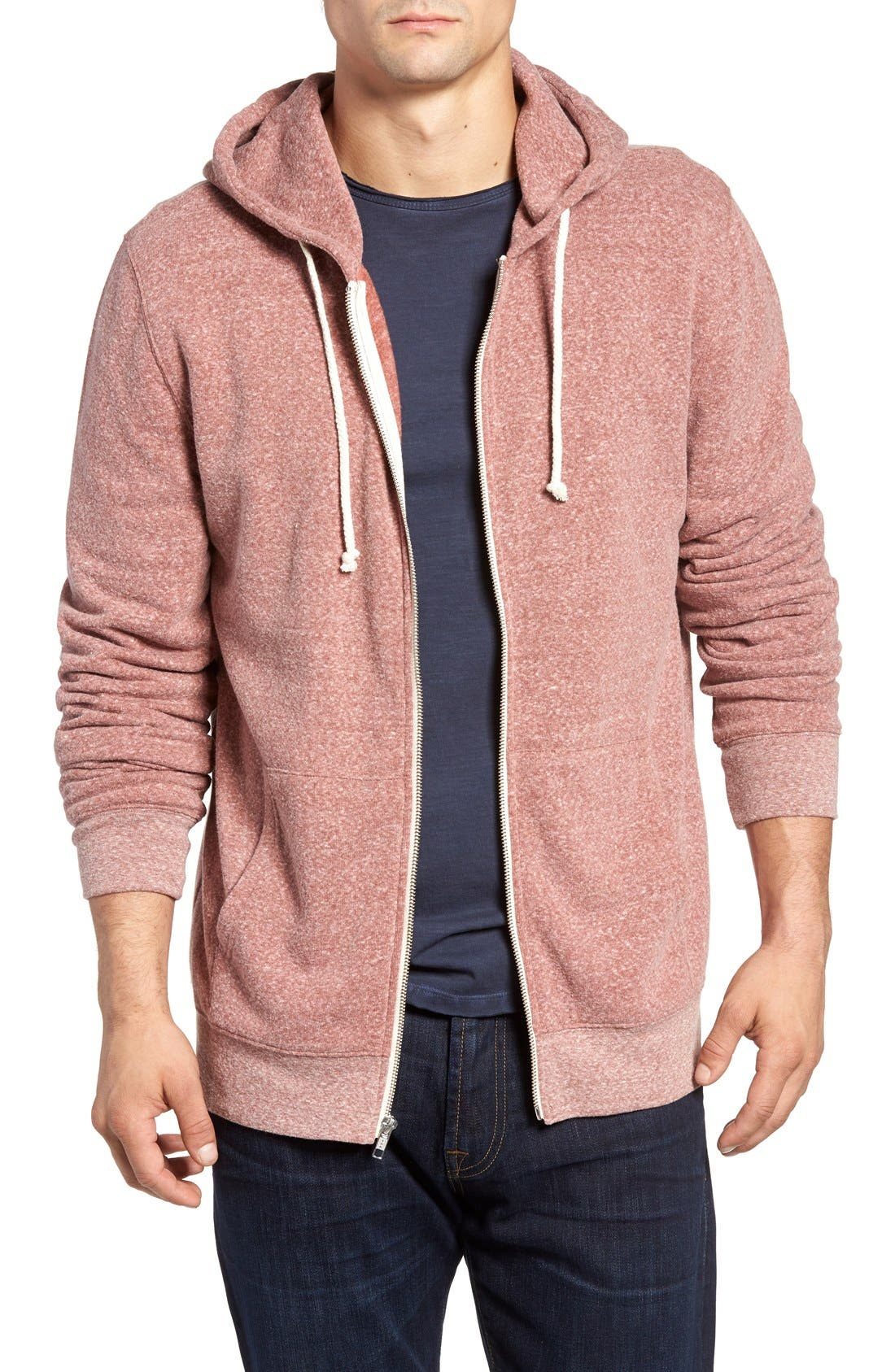 Alternate Image 1 Selected - Threads for Thought Trim Fit Heathered Hoodie