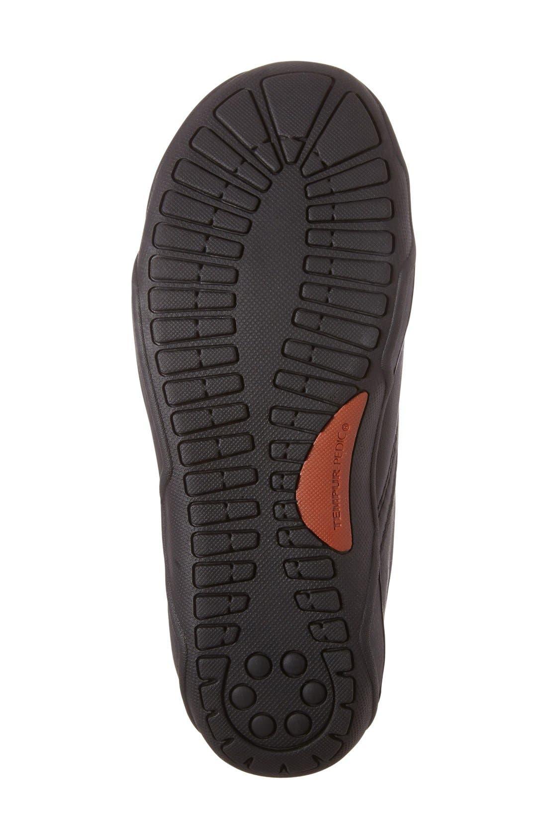 Tempur-Pedi Jacobi Slip-On,                             Alternate thumbnail 4, color,                             Black Leather