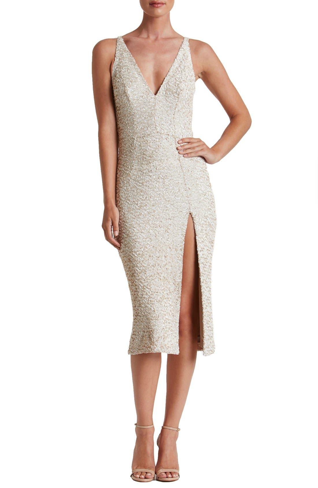 Main Image - Dress the Population Camilla Sequin Dress
