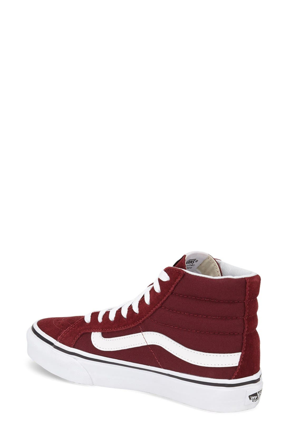 Alternate Image 2  - Vans Sk8-Hi Slim High Top Sneaker (Women)