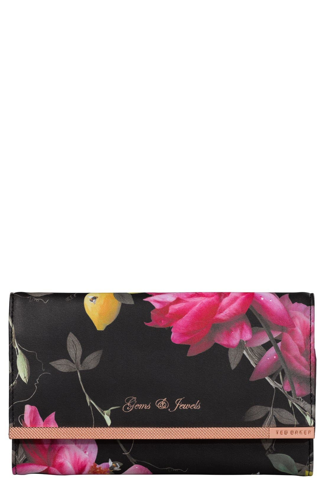 TED BAKER LONDON Wild and Wolf x Ted Baker London Citrus Bloom Jewelry Roll