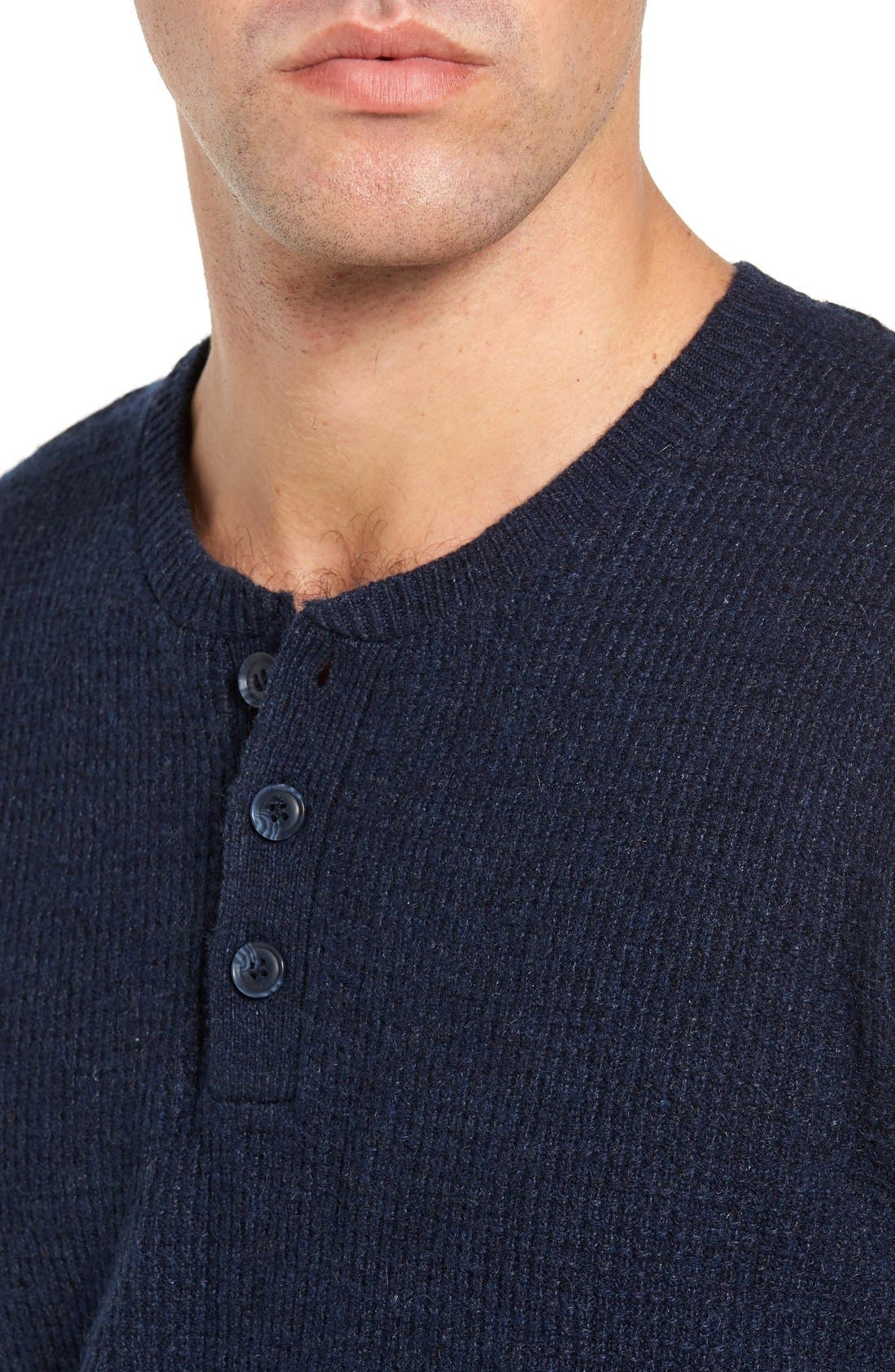 Thermal Henley,                             Alternate thumbnail 4, color,                             Navy