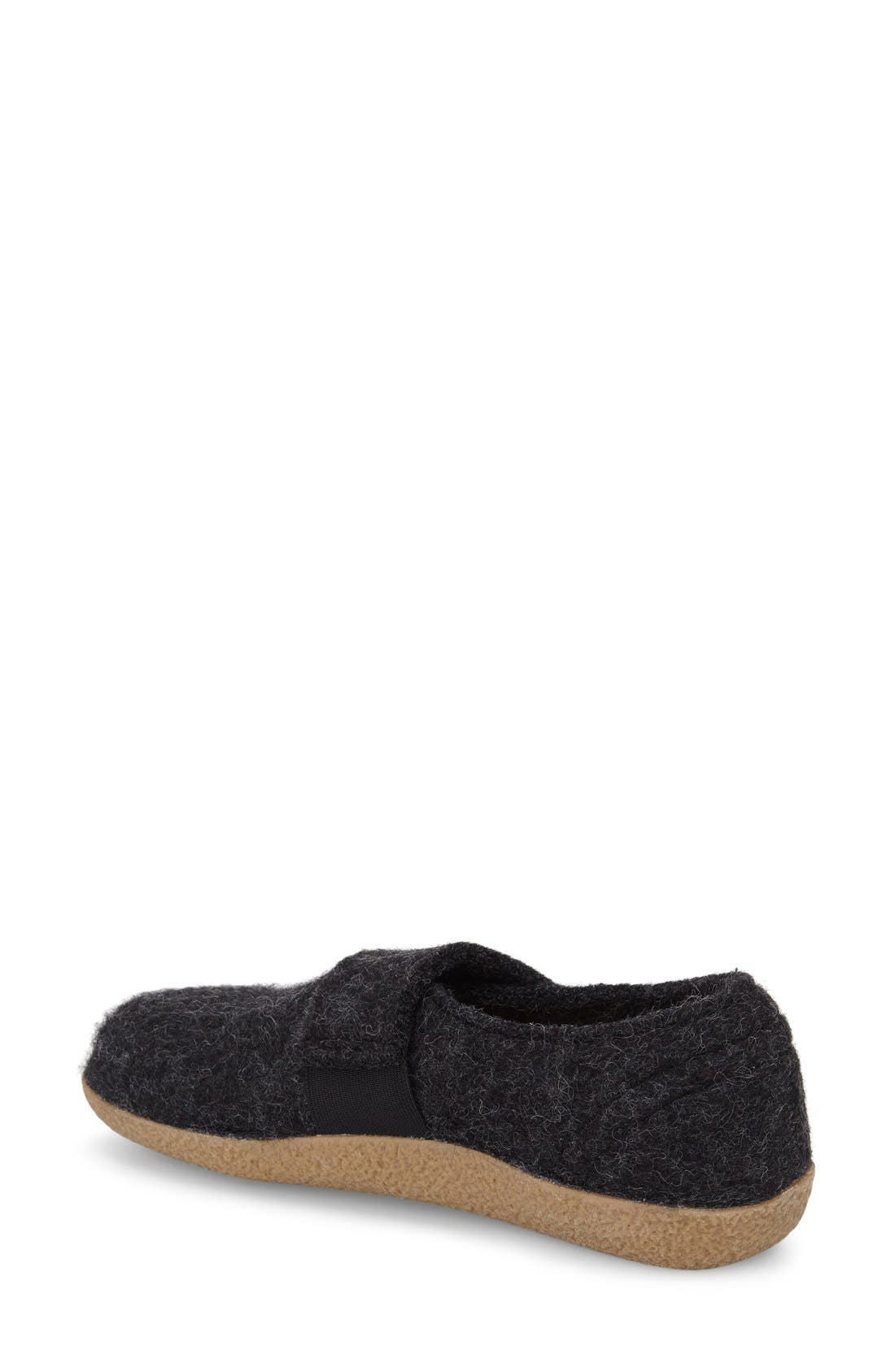 Camden Water Repellent Slipper,                             Alternate thumbnail 2, color,                             Charcoal Wool