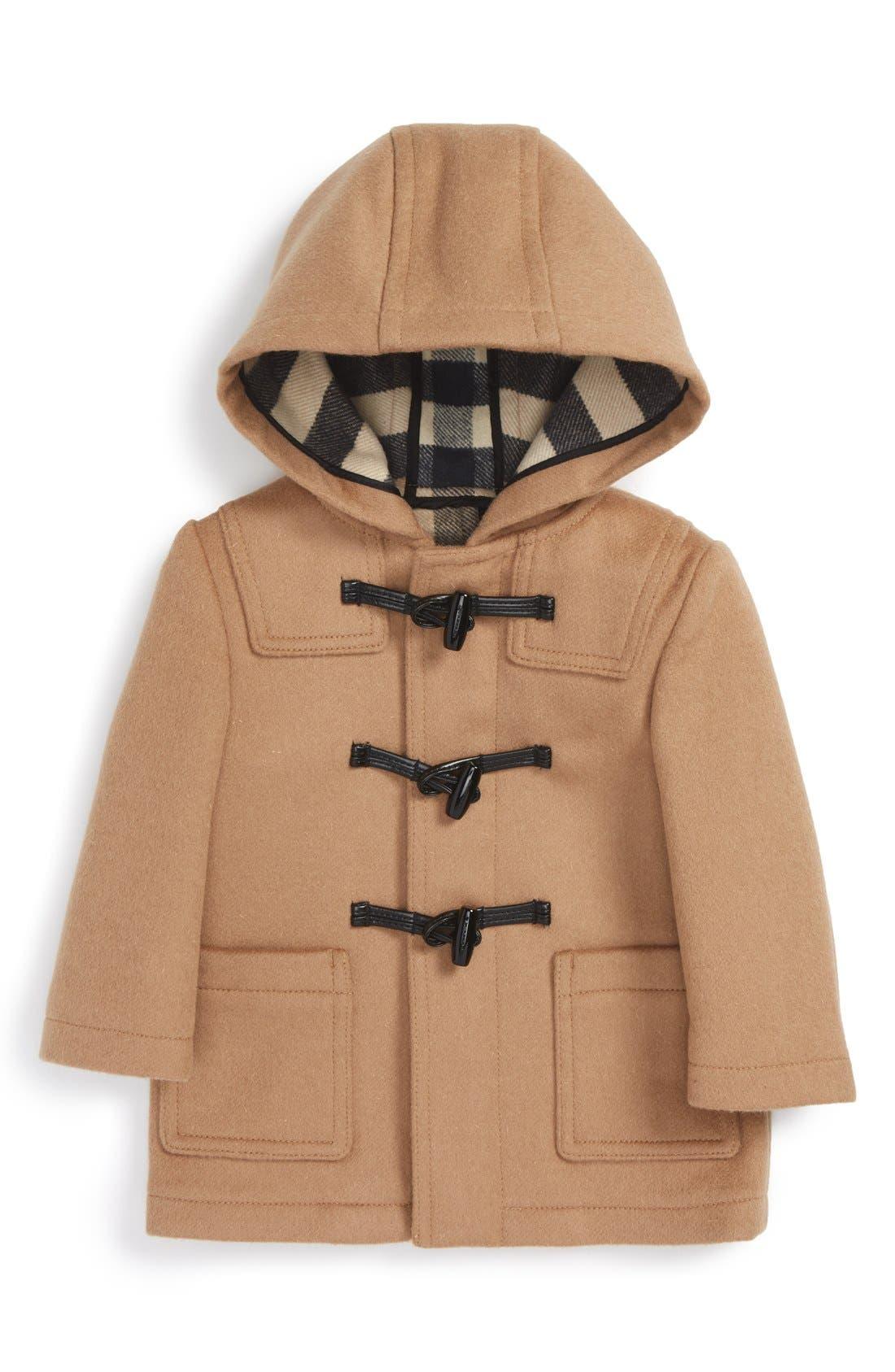 Burberry Brogan Hooded Wool Toggle Coat (Baby Boys)