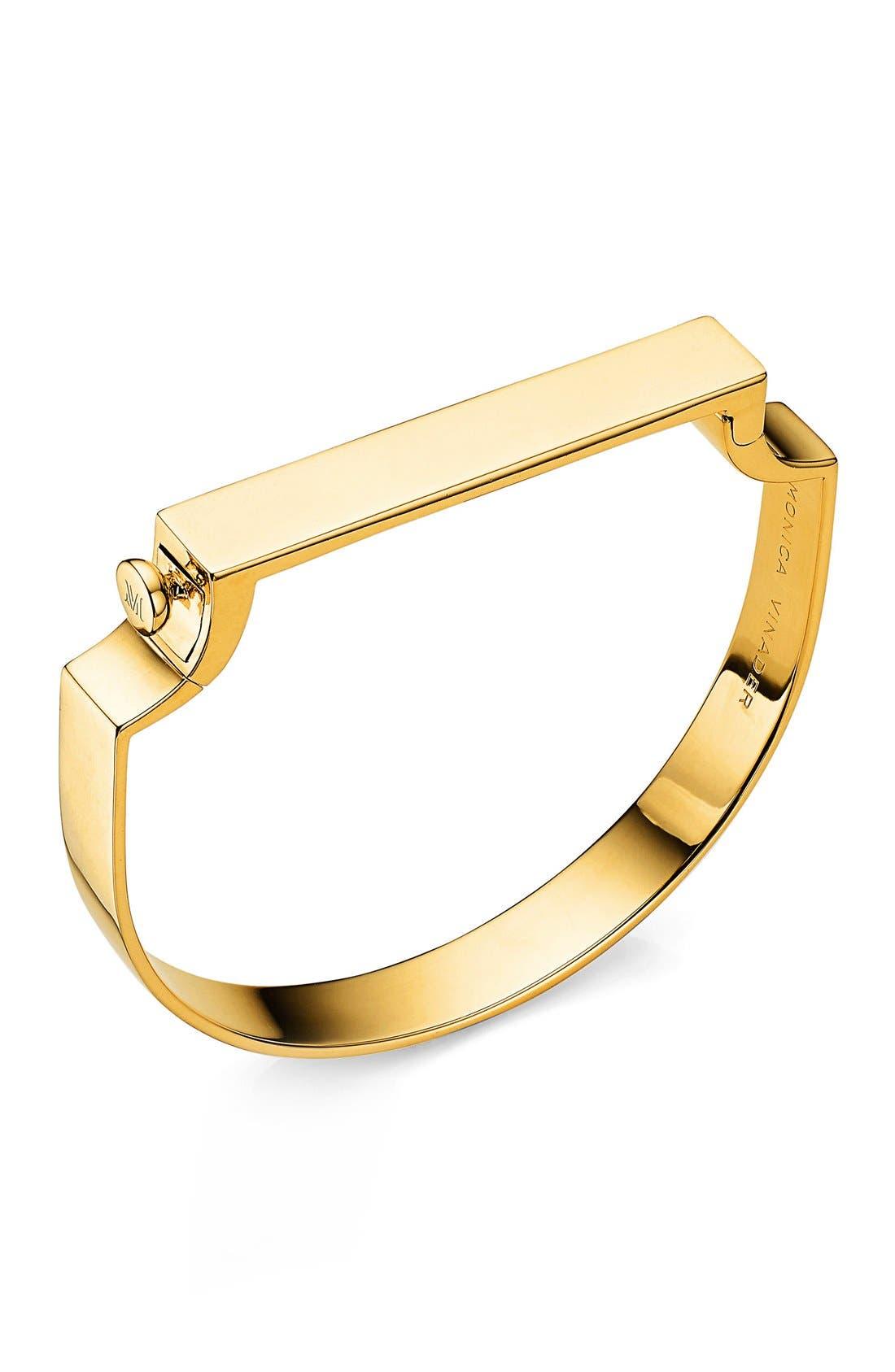 Engravable Signature Bangle,                         Main,                         color, Gold