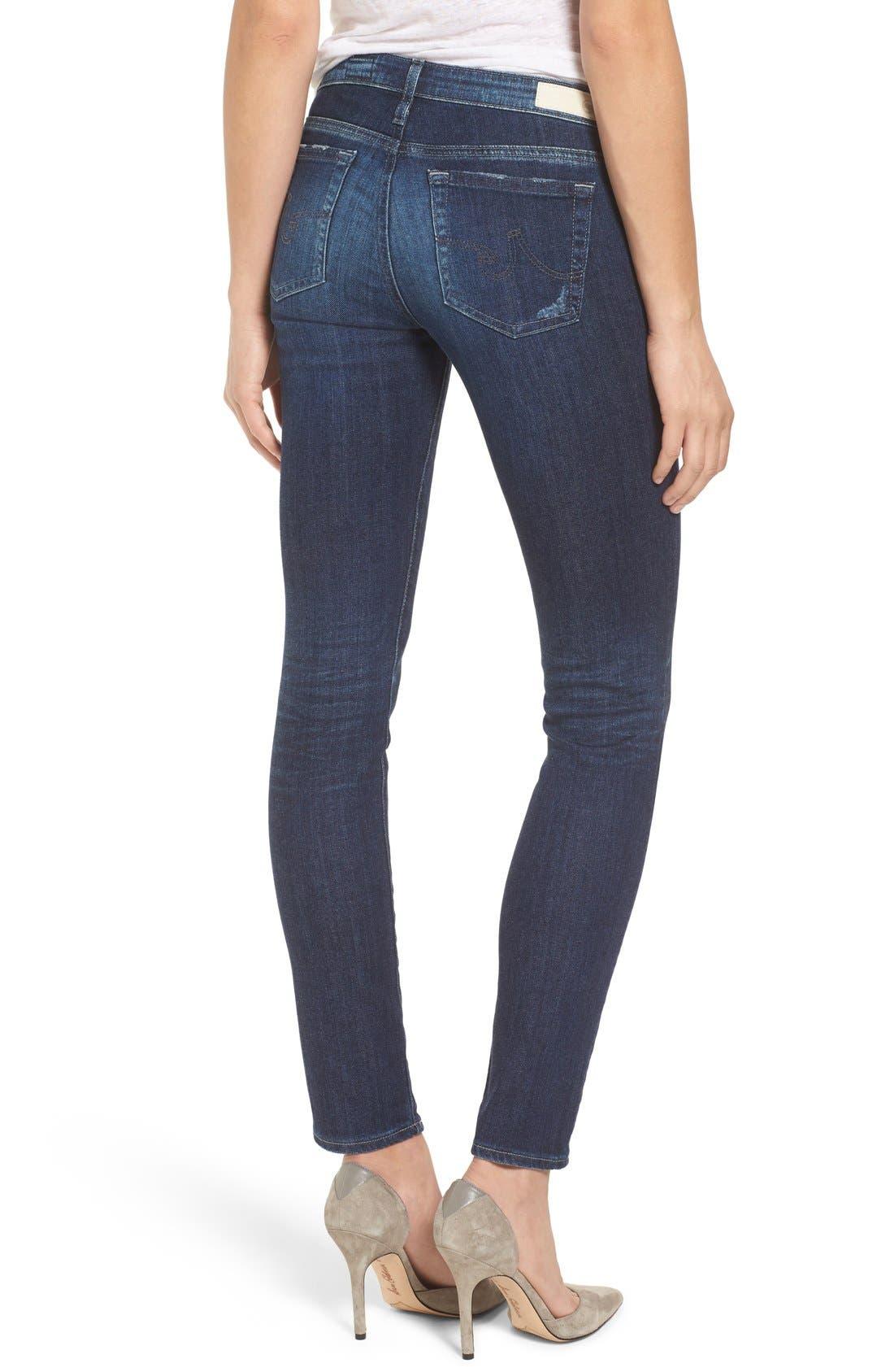 Alternate Image 2  - AG 'The Stilt' Cigarette Leg Jeans (7 Year Ripped)