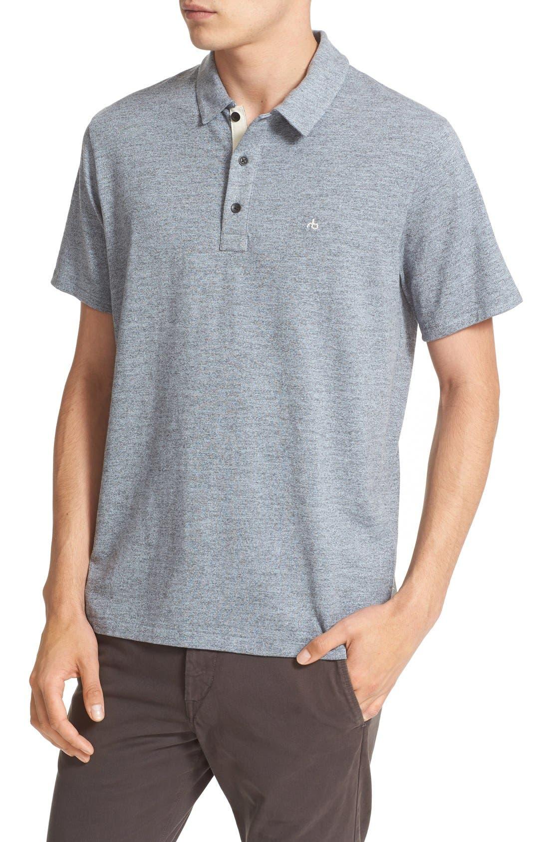 Alternate Image 4  - rag & bone Standard Issue Regular Fit Slub Cotton Polo