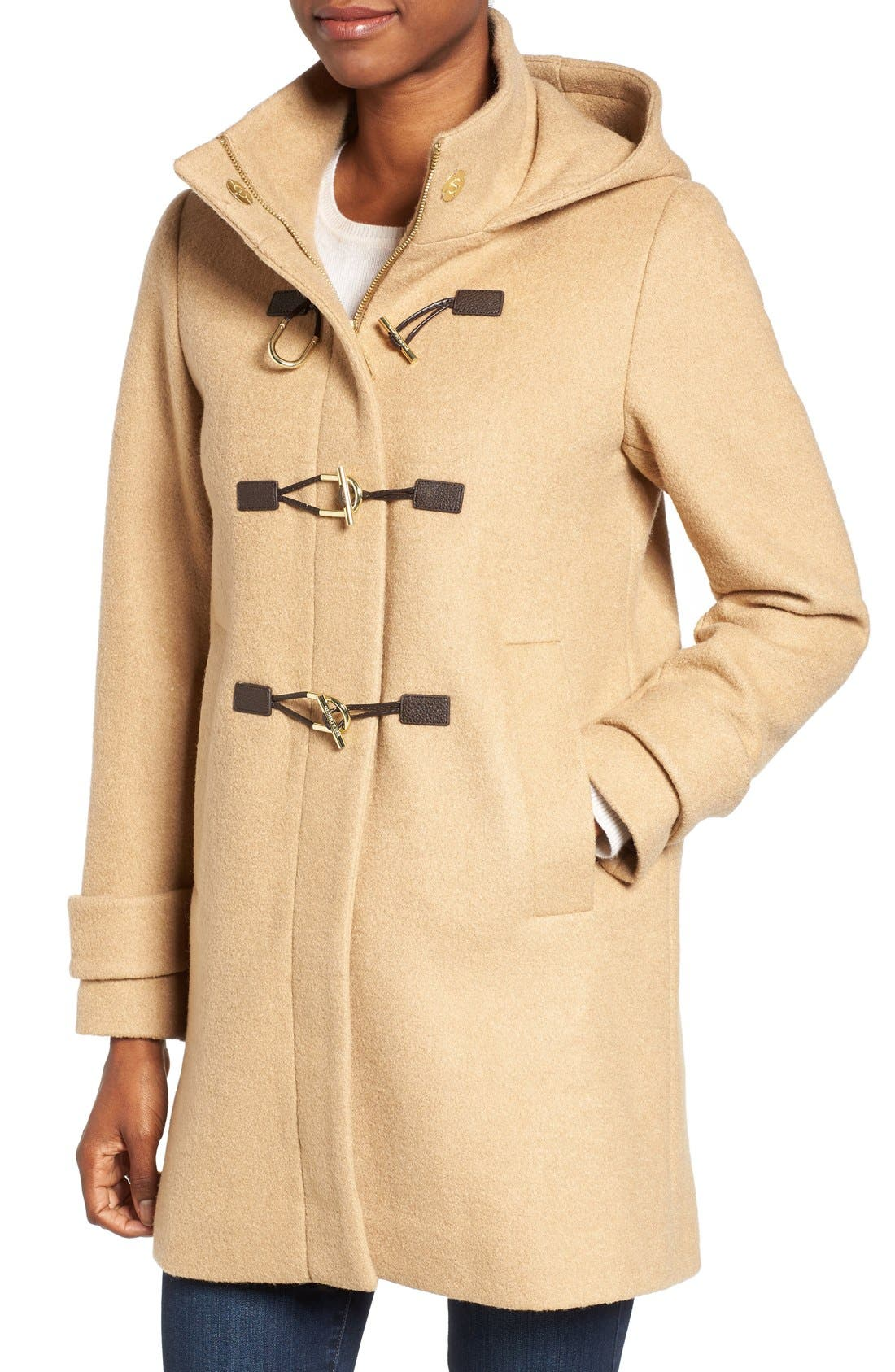 Alternate Image 4  - Vince Camuto Boiled Wool Blend Duffle Coat