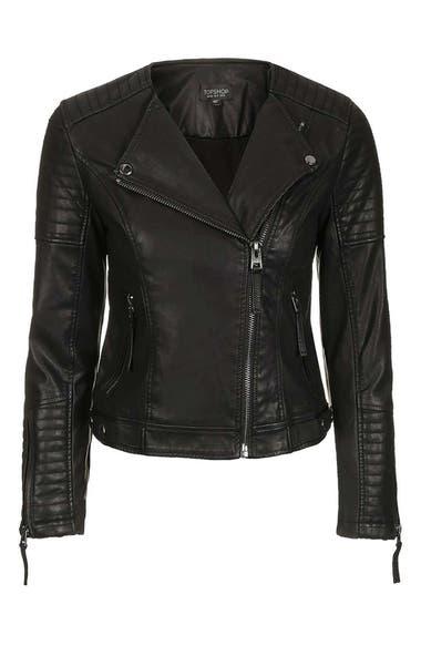 Topshop Nelly Faux Leather Biker Jacket | Nordstrom