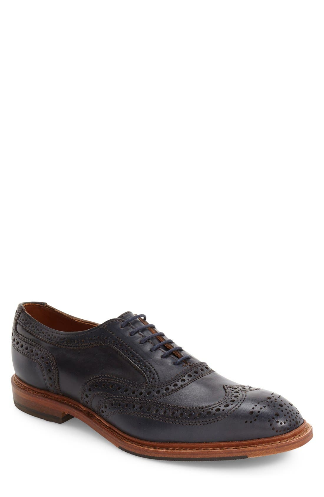 Neumok 2.0 Wingtip,                         Main,                         color, Navy Leather
