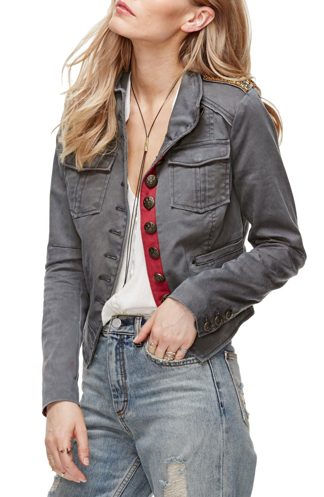 Alternate Image 1 Selected - Free People Shrunken Officer Jacket