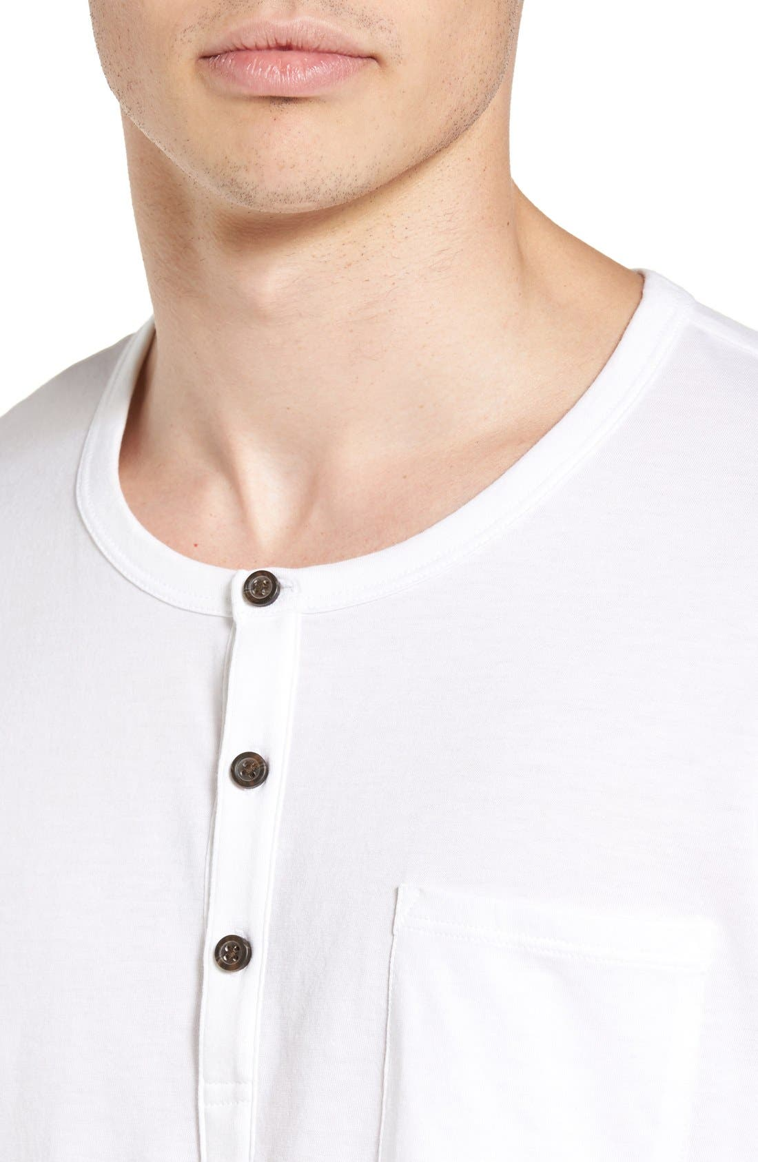 Classic Henley,                             Alternate thumbnail 4, color,                             White