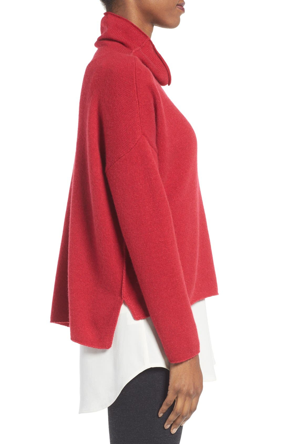 Alternate Image 3  - Eileen Fisher Recycled Cashmere & Lambswool Sweater
