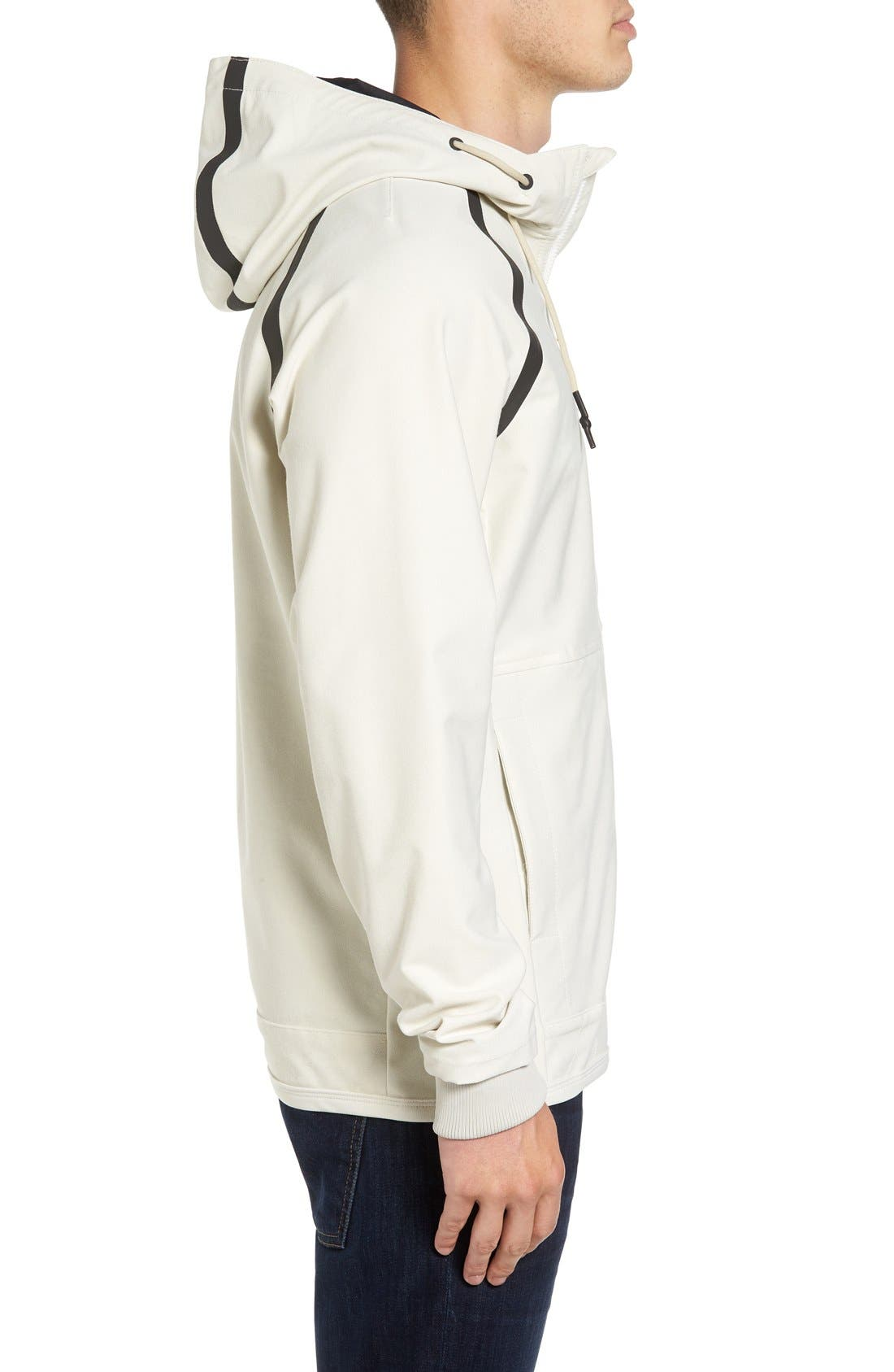 Sport Grappler Hooded Jacket,                             Alternate thumbnail 3, color,                             Silver Bleach