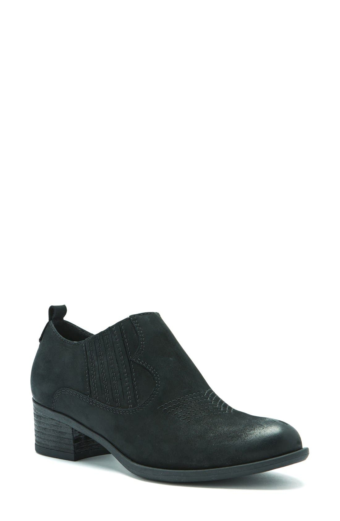 Maddox Waterproof Western Bootie,                         Main,                         color, Black Leather