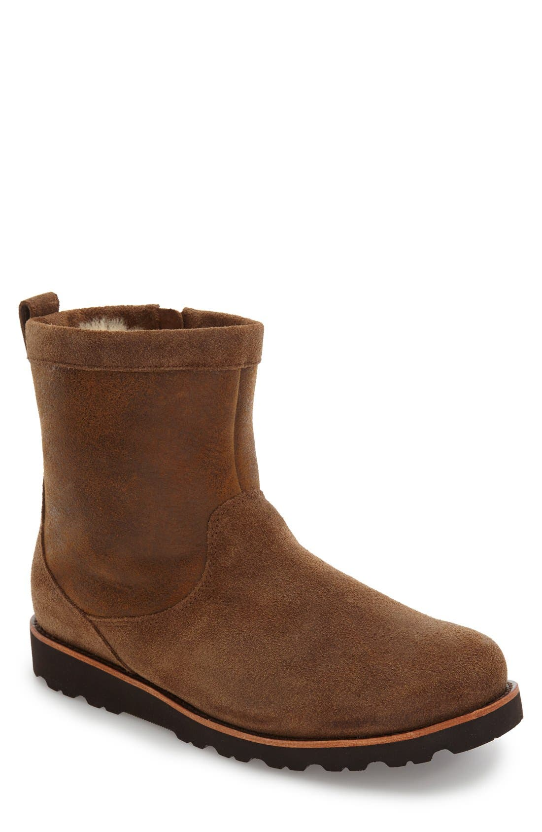 Alternate Image 1 Selected - UGG Hendren Bomber Zip Boot (Men)