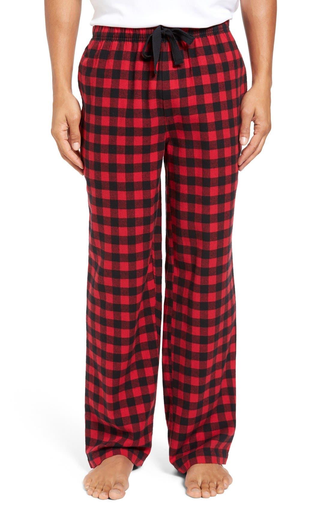 Alternate Image 1 Selected - Nordstrom Men's Shop Flannel Lounge Pants
