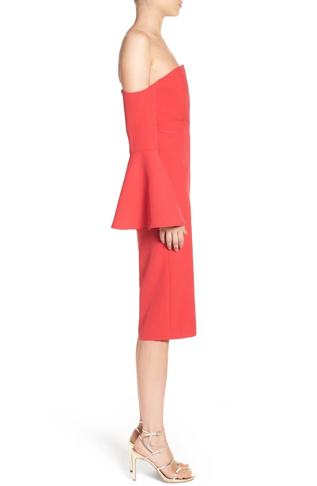 Alternate Image 3  - Bardot Jasmine Off the Shoulder Sheath Dress