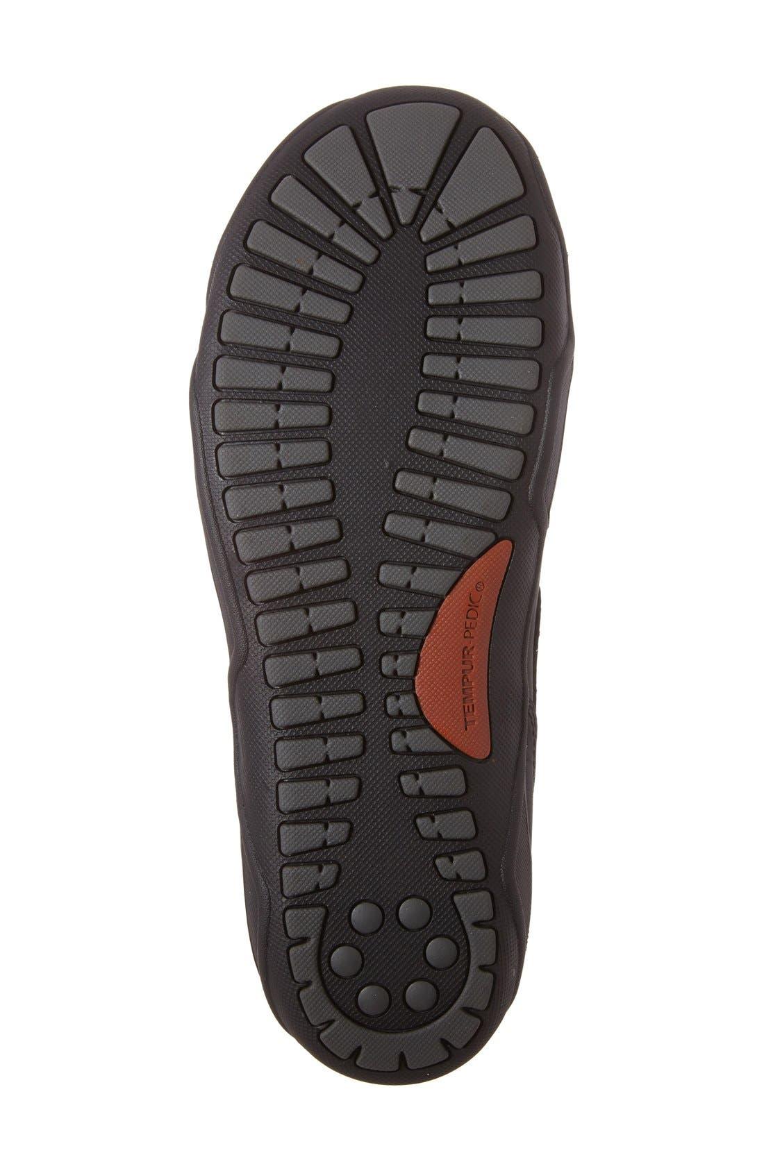 Markis Moc Toe Slip-On,                             Alternate thumbnail 4, color,                             Black Leather