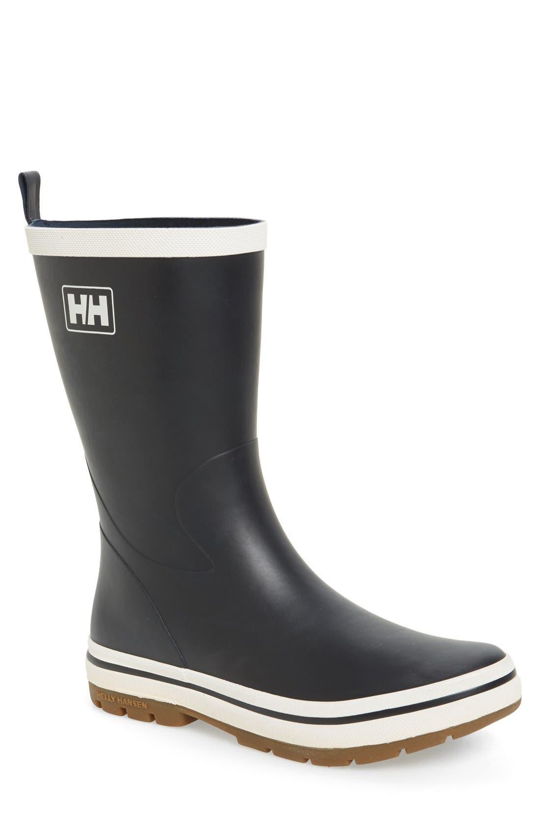 'Midsund 2' Rain Boot,                             Main thumbnail 1, color,                             Navy