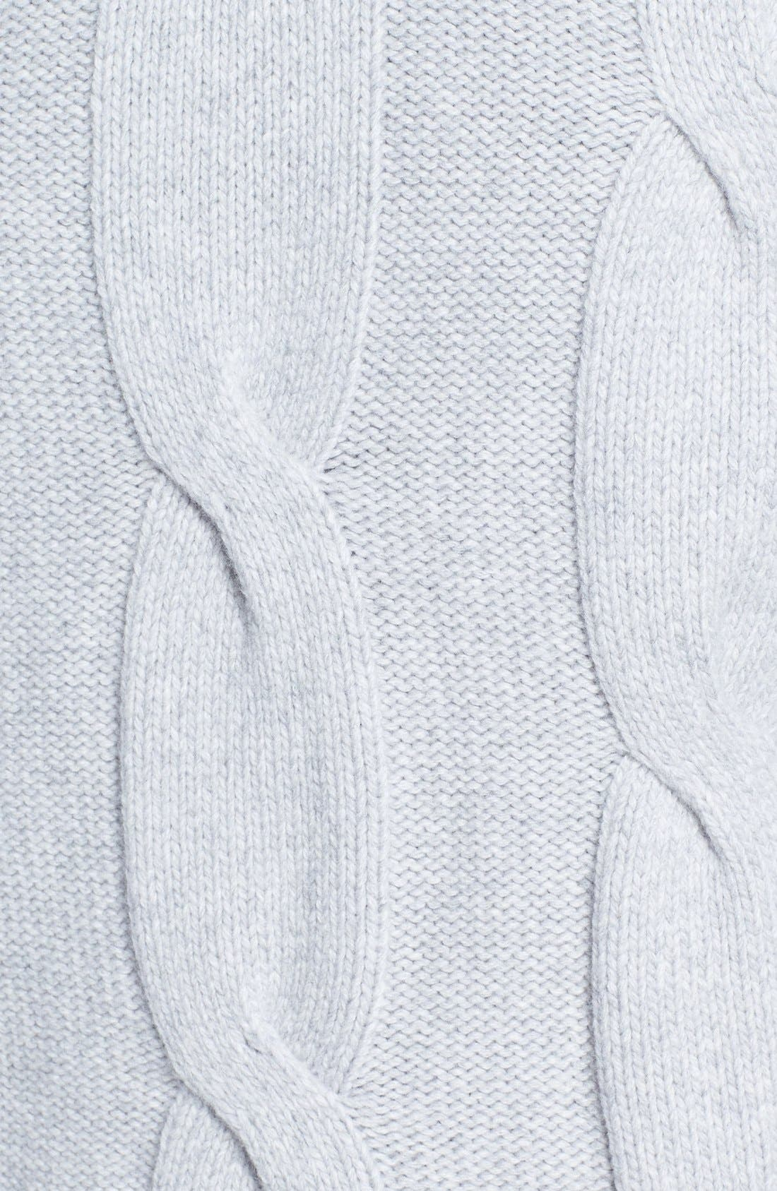 Wool & Cashmere Sweater,                             Alternate thumbnail 5, color,                             Light Grey