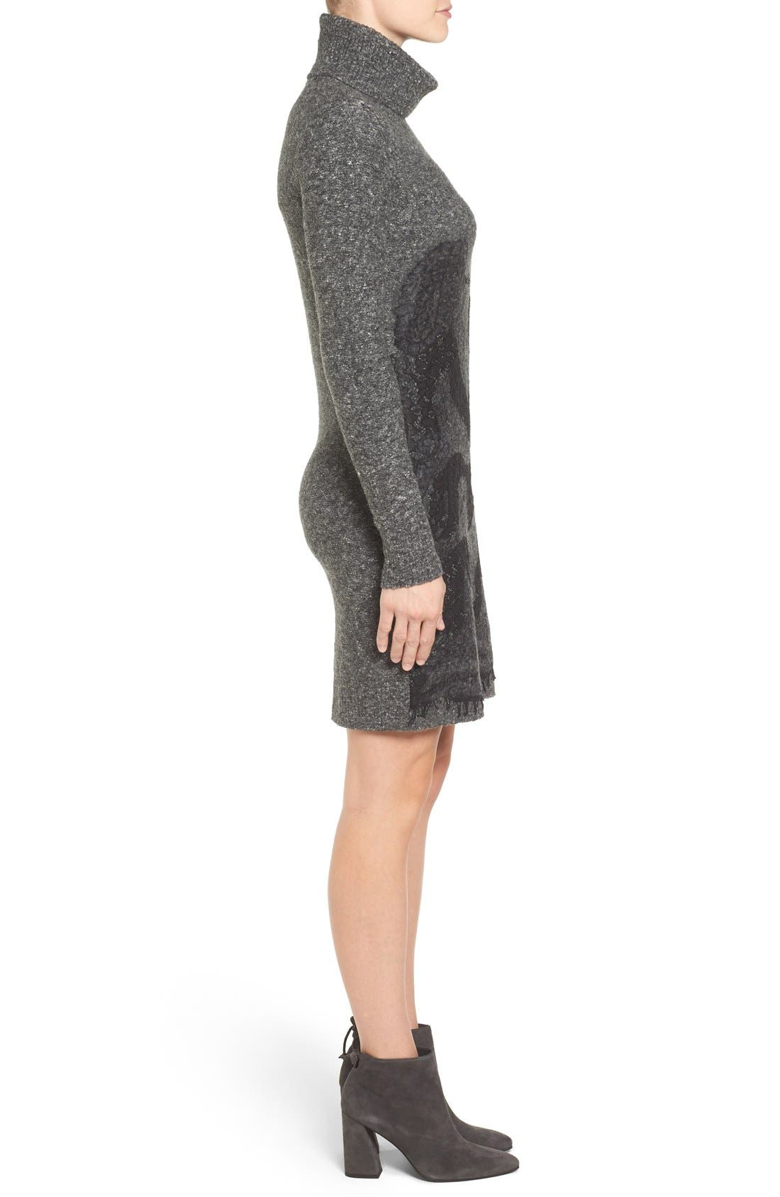 Alternate Image 3  - MICHAEL Michael Kors Needle Punched Lace Sweater Dress