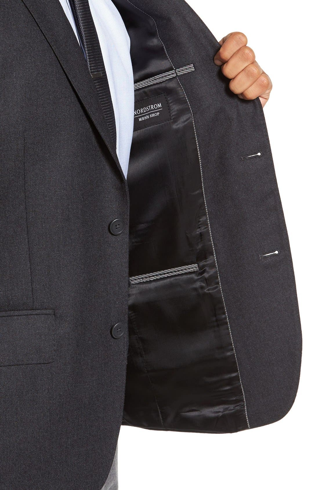 Classic Fit Wool & Cashmere Blazer,                             Alternate thumbnail 4, color,                             Charcoal