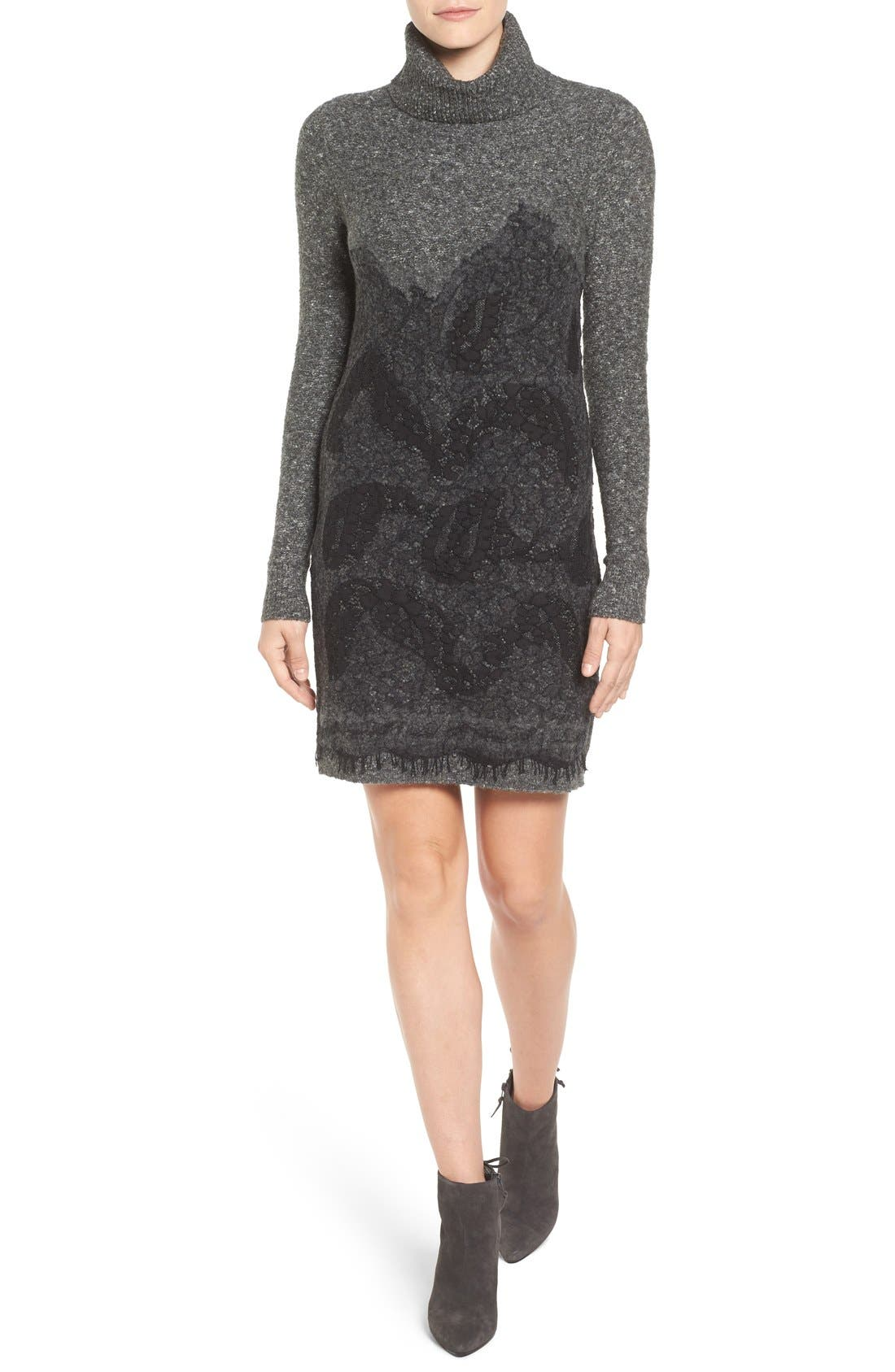 Alternate Image 1 Selected - MICHAEL Michael Kors Needle Punched Lace Sweater Dress
