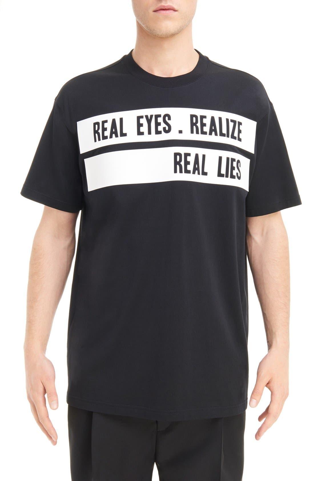 Givenchy Real Eyes Logo Graphic T-Shirt