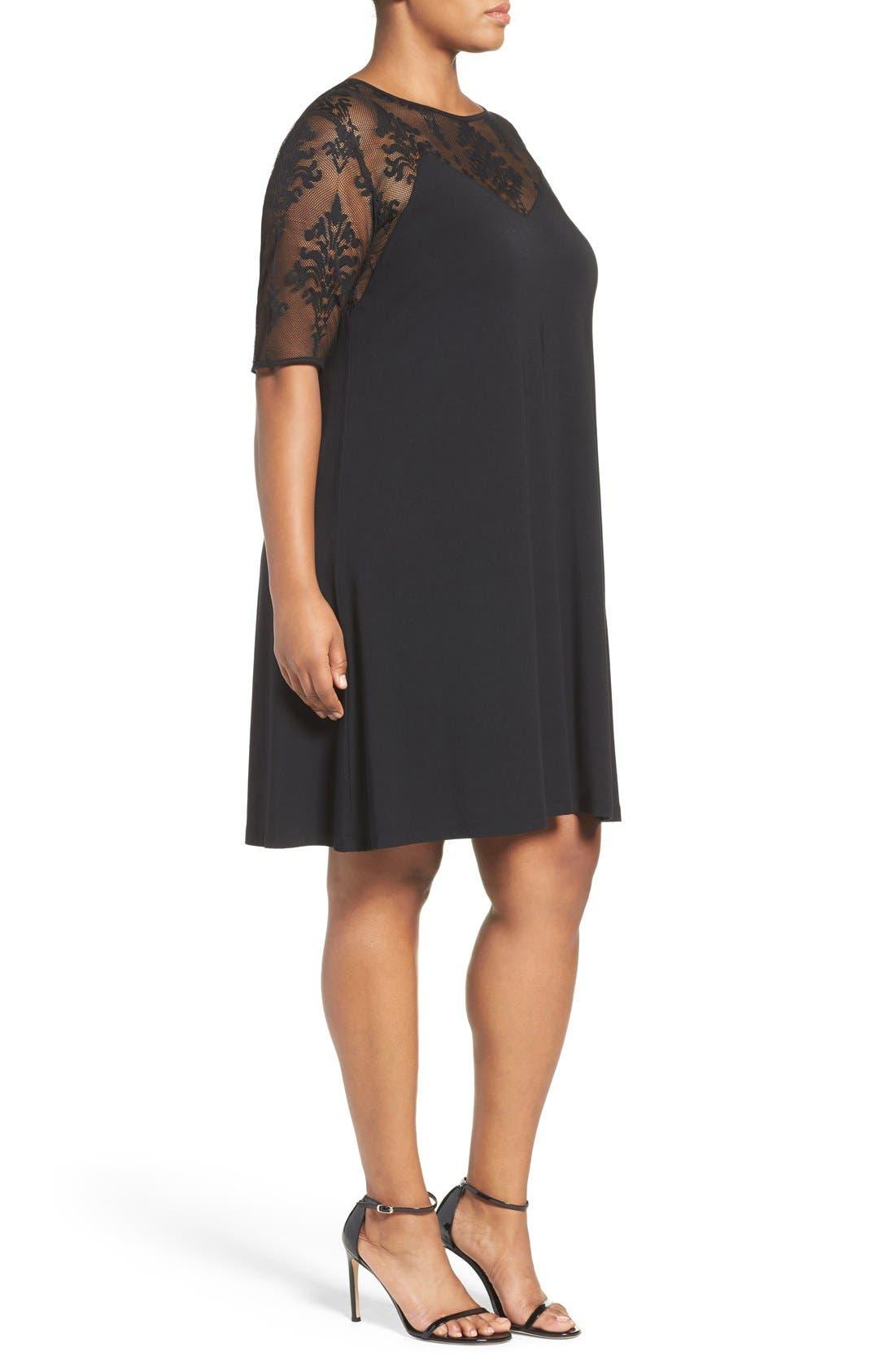 Alternate Image 3  - Tart Jessar Lace Yoke Shift Dress (Plus Size)