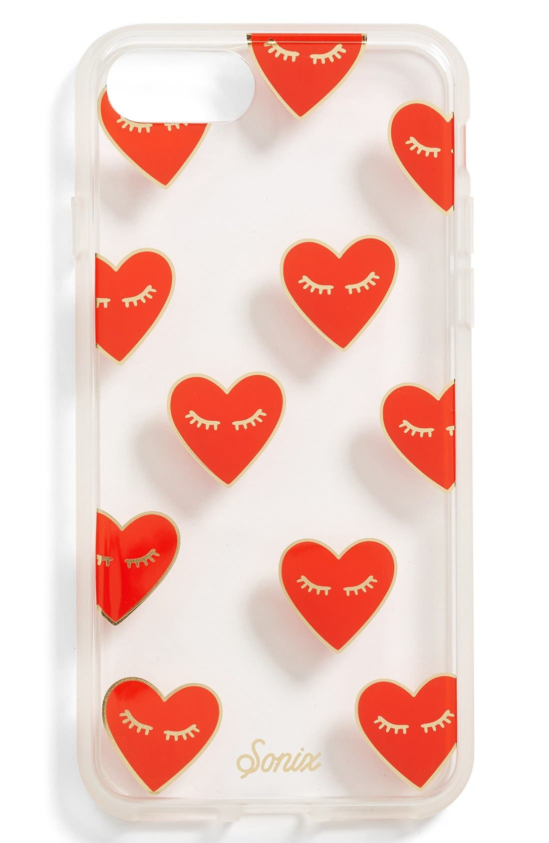 Fancy Heart iPhone 7/8 & 7/8 Plus Case,                             Main thumbnail 1, color,                             Red