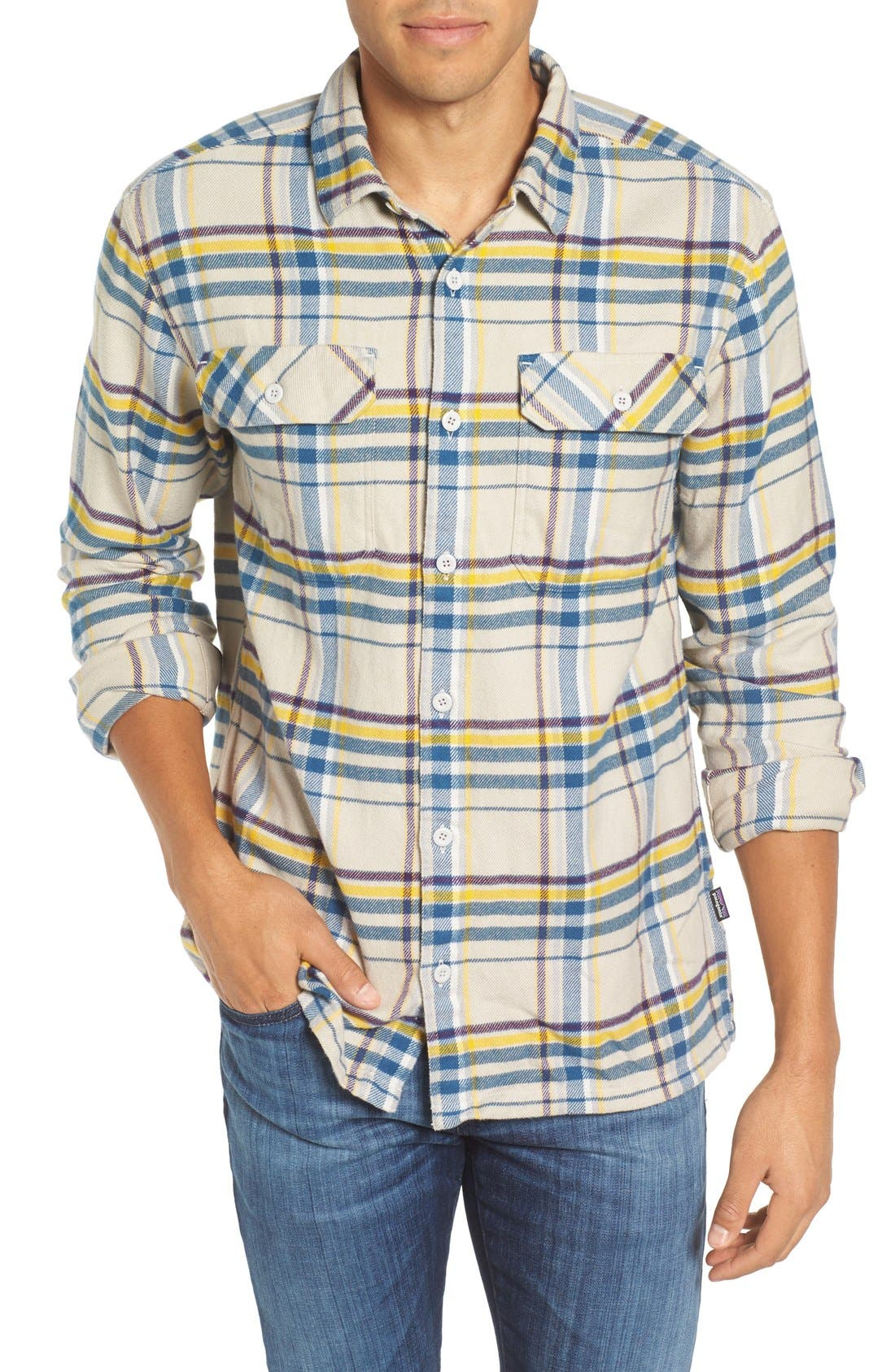 Alternate Image 1 Selected - Patagonia 'Fjord' Regular Fit Organic Cotton Flannel Shirt