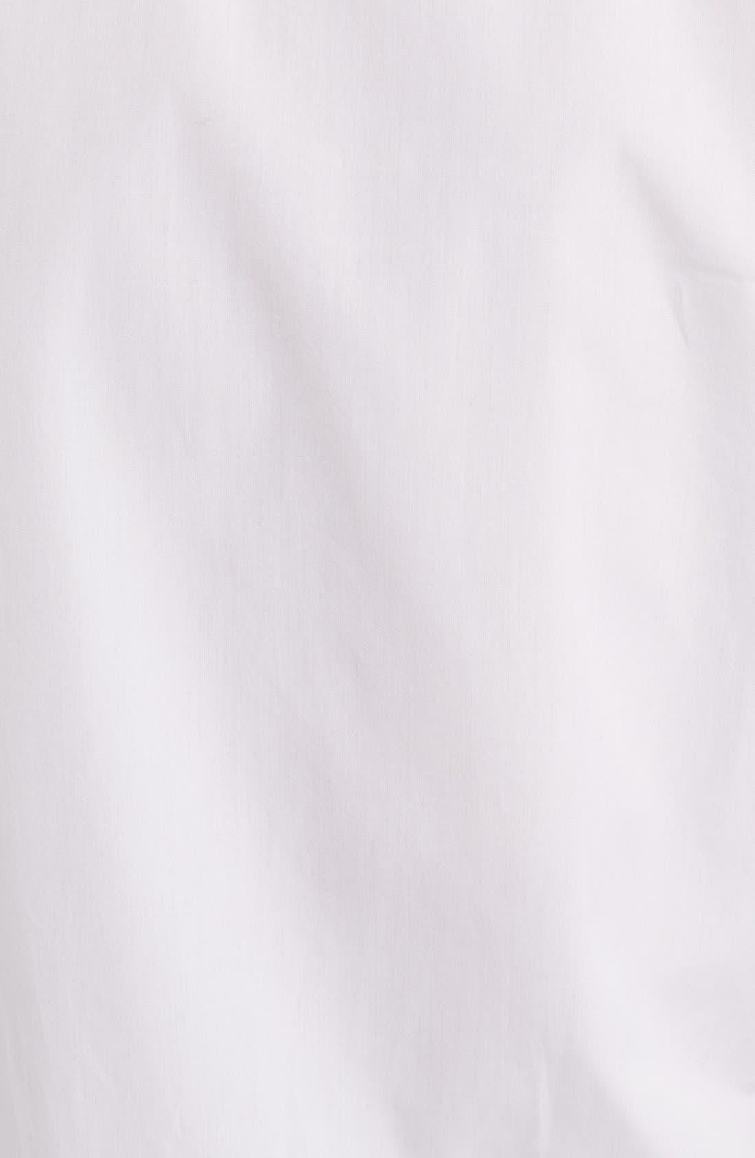 Rockstud Cotton Poplin Blouse,                             Alternate thumbnail 3, color,                             White/ Gold