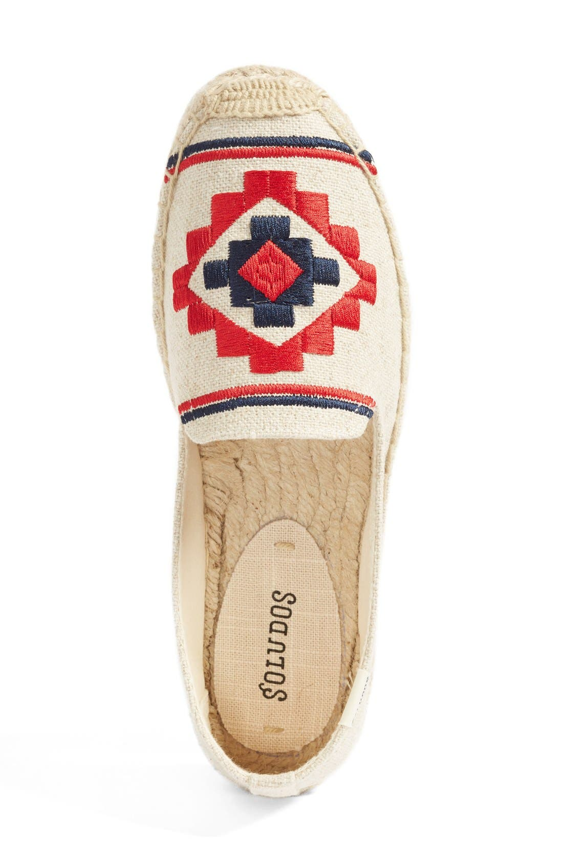 Embroidered Espadrille,                             Alternate thumbnail 3, color,                             Sand