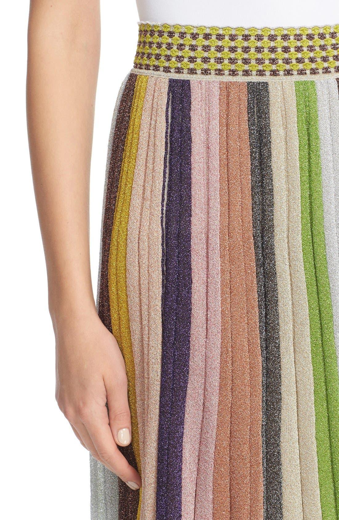 Alternate Image 6  - Missioni Metallic Stripe Skirt