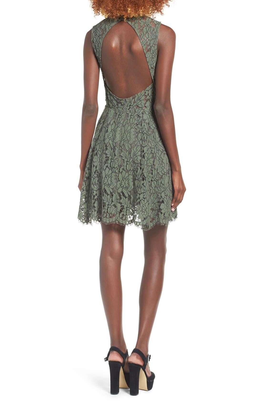 Alternate Image 3  - Keepsake the Label Porcelain Lace Fit & Flare Dress