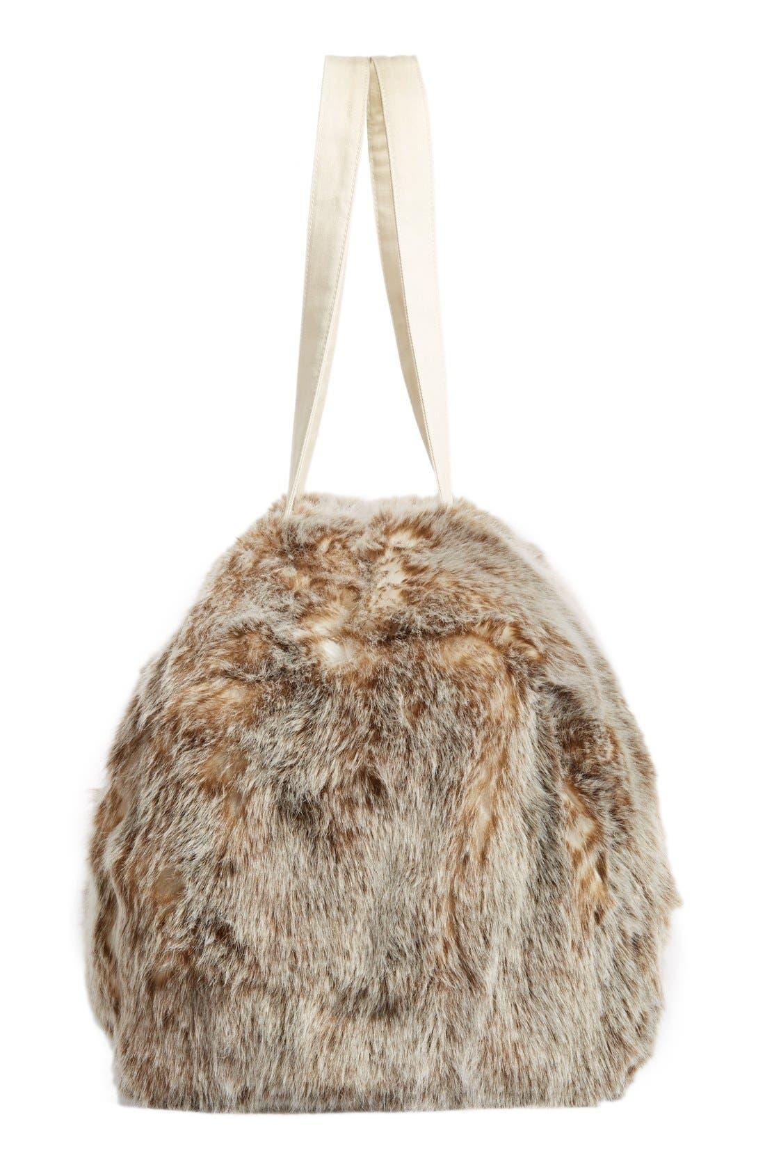 Alternate Image 5  - Nordstrom at Home Cuddle Up Faux Fur Duffel Bag