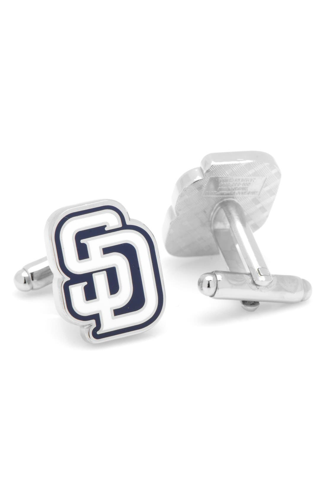 San Diego Padres Cuff Links,                             Alternate thumbnail 3, color,                             Blue